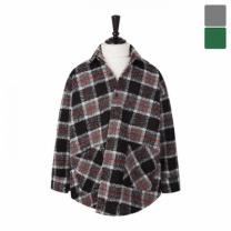 [바보사랑]오버핏 넵 트위드 체크 셔츠 코트 CTM447