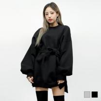[바보사랑]벨트 기모 미니 원피스 (2colors)