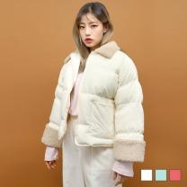 [바보사랑]양털 카라 숏 패딩 점퍼 (3colors)