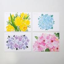 [바보사랑]수채화 꽃 엽서 4종 세트
