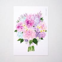 [바보사랑]연보라 꽃다발 엽서